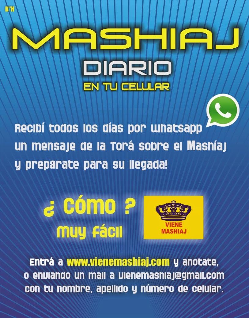Recibí Mashíaj Diario por Whatsapp