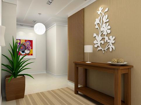 Construindo minha casa clean decora o de corredores for Mesas recibidores modernos
