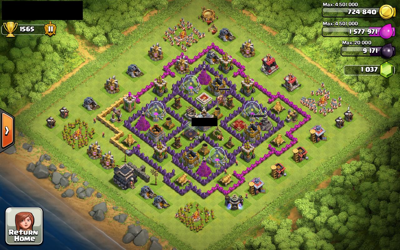 Coc base 99 th 9 farming base 2