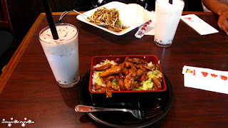 Ajisen noodle, ramen, ramen noodles, chicken teriyaki, pork, white rice, chinese food, japanese food, bubble tea,