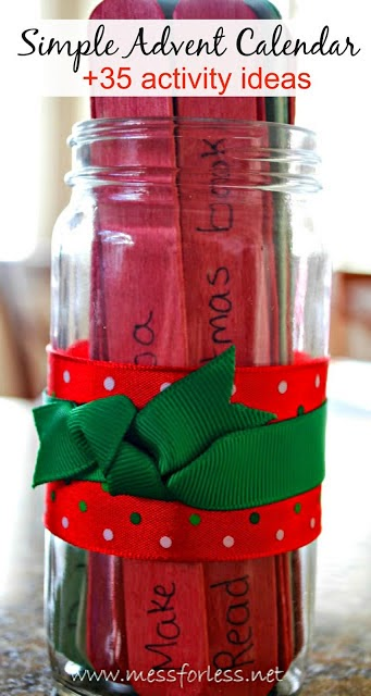 http://www.messforless.net/2012/11/easy-diy-advent-jar-and-35-advent.html