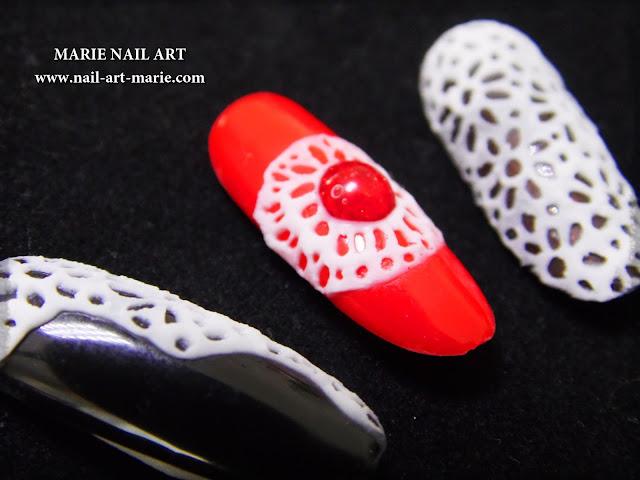 Nail Art Dentelle en Gel 3D4