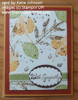 Fall Card made using Stampin'UP!'s French Foliage stamp set