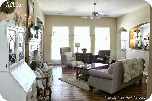 French Farmhouse Living Room-French Country-From My Front Porch To Yours