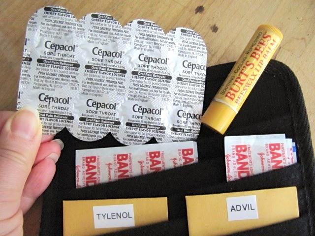 car visor first aid kit