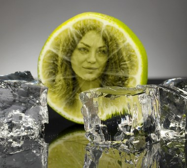 Efecto de foto Limón con Hielo