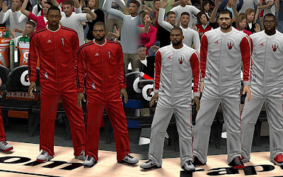 NBA 2K13 Toronto Raptors Warmup Uniforms Mod