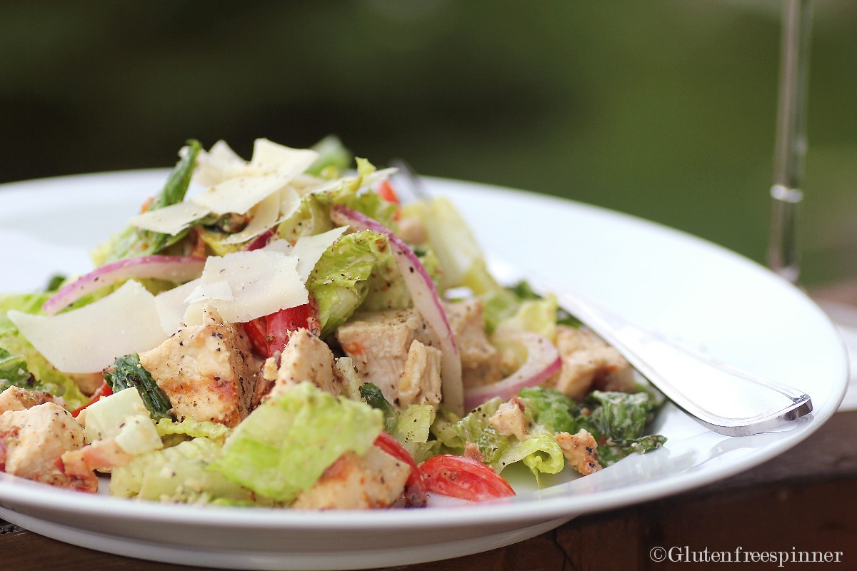 Grilled Caesar Salad (with grilled chicken)