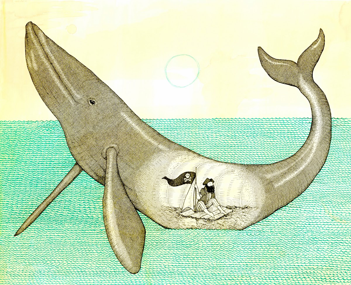 Rescue your father from the belly of the whale