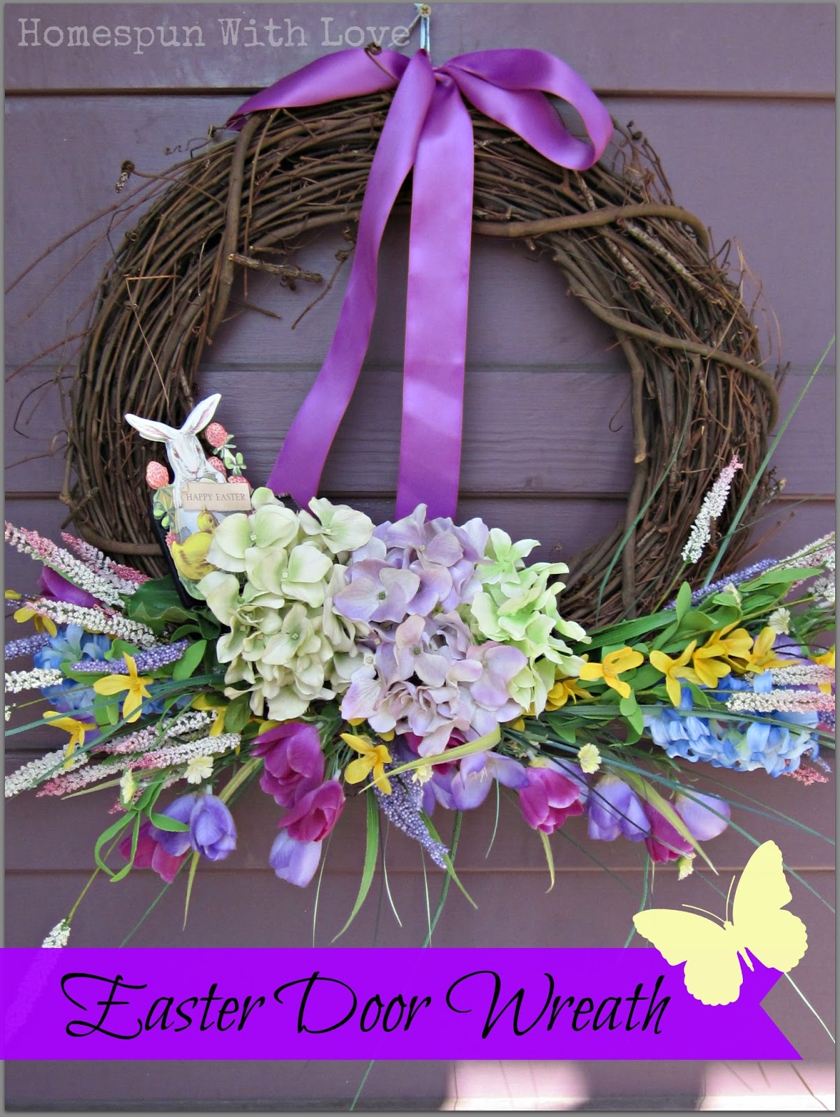 Homespun With Love: Easter Door Wreath
