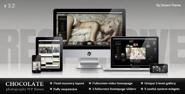 Chocolate WP Responsive Photography Theme Version 3.1 free