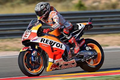 Dari Posisi Pole, Marquez Targetkan Menang di GP Aragon