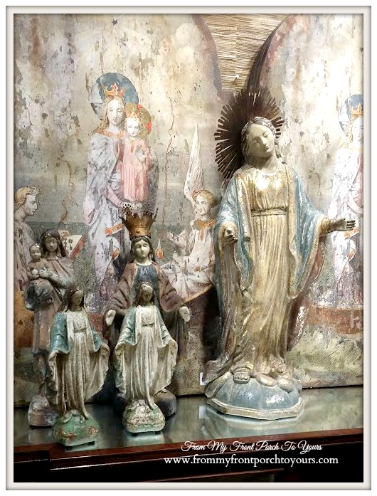 Madonna Statues- Creative Co-Op-Laurie's Home Furnishings- From My Front Porch To Yours