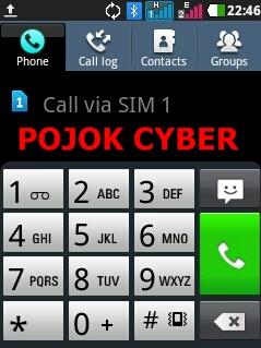Menu Telepon Android