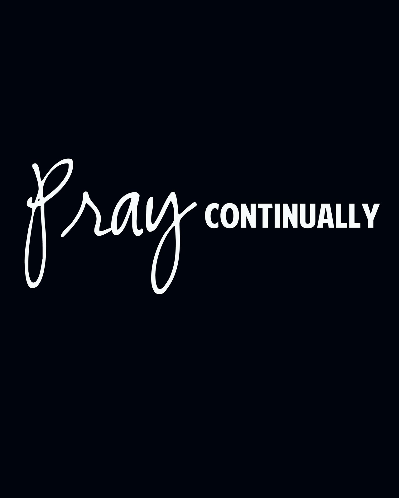 Pray Continually Coloring Page