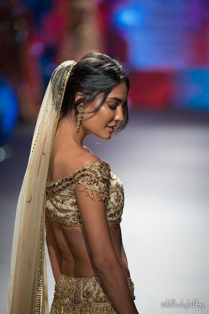 Swarovski Crystal Golden Shadow Tarun Tahiliani IBFW2015