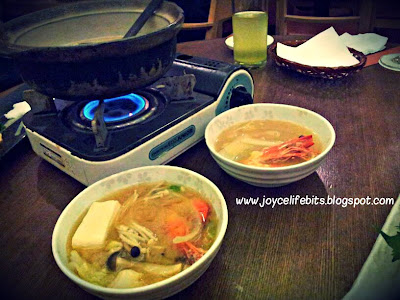 sukiyaki pot with seafood