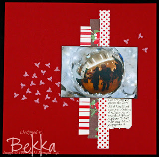 Reflection on Christmas Scrapbook Page