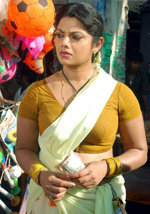 Actress Swathi Verma Hot and Spicy Saree Photos