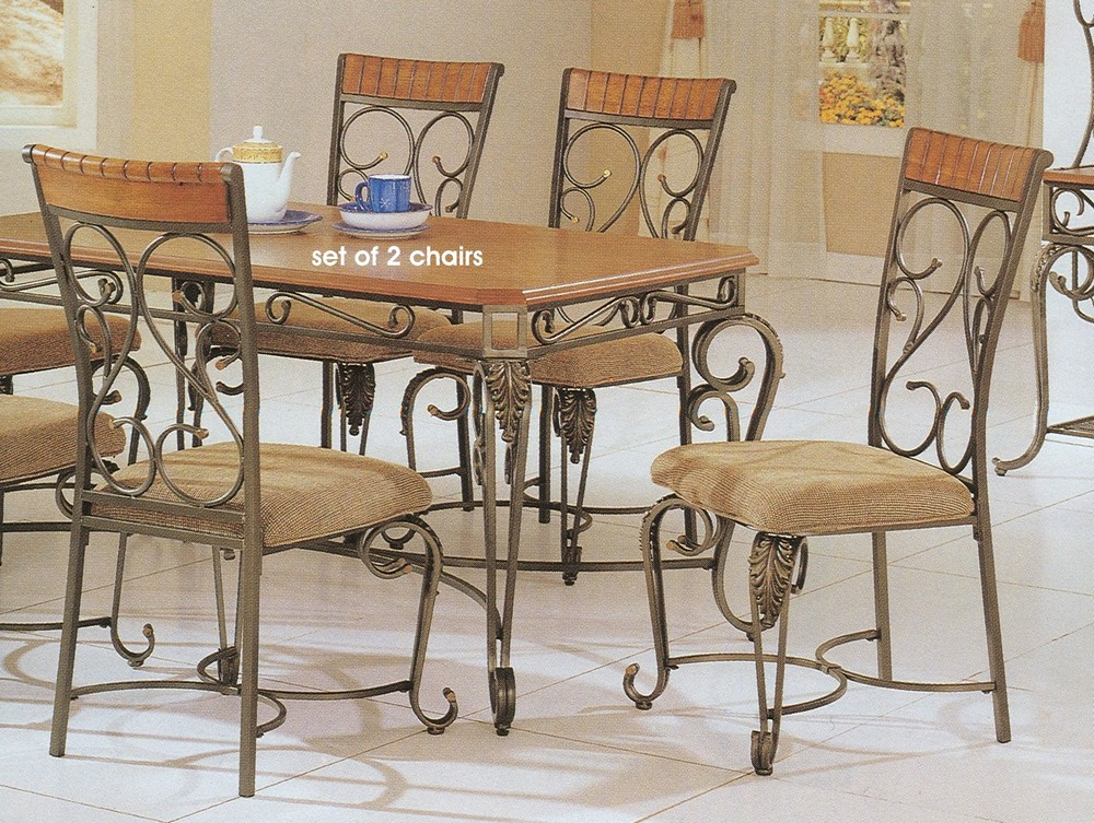 Wrought iron dining room furniture furniture for Iron furniture