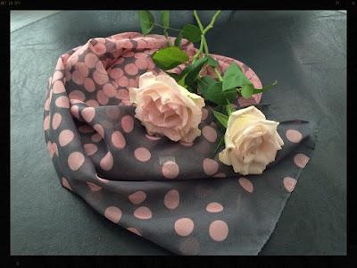Yosa Grey & Pink Scarf, My Midlife Fashion