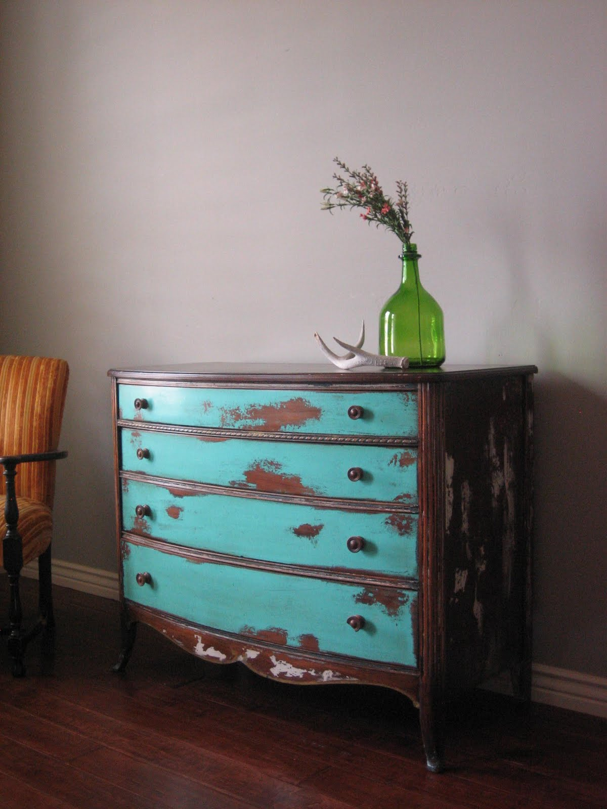 European paint finishes eclectic weathered dresser for Distressed furniture
