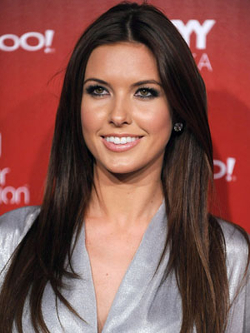 Audrina Patridge keeps it simple with glossy, super sleek strands hairstyles.