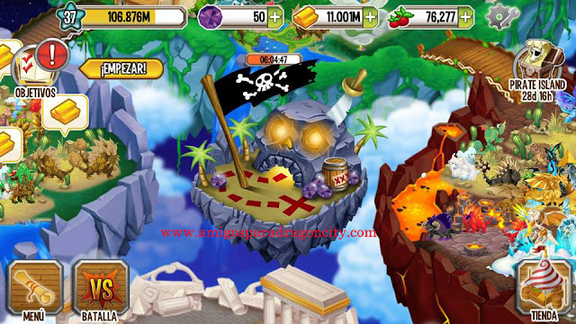 imagen de la isla pirata de dragon city para iphone y ipad