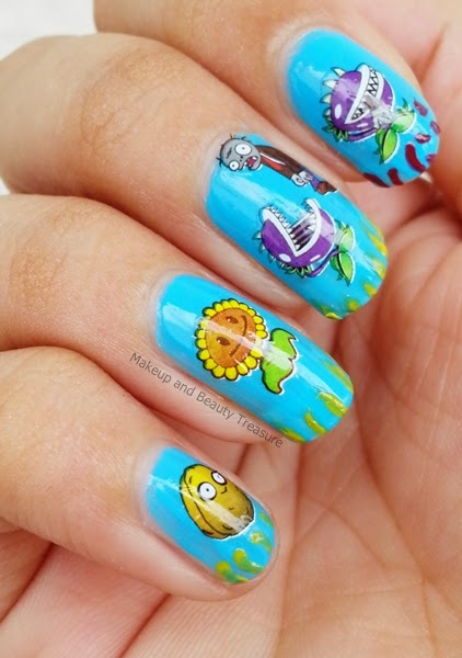 Plants-Vs-Zombies-Nail-Art