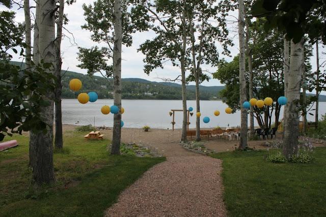 Весілля у синьо жовтому дизайні