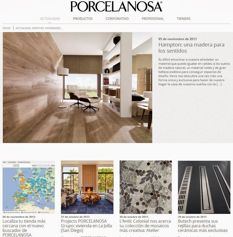 Starting Today, You Can Follow The News Of PORCELANOSA Group Through Our  New Blog, Fully Integrated Into The Companyu0027s Corporate Website.