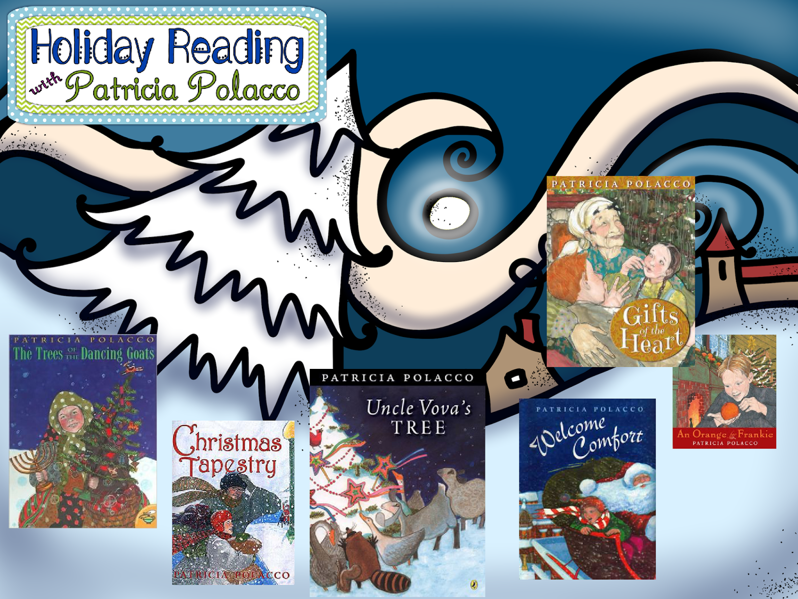 These are my favorite winter holiday books by Patricia Polacco.  You can download a free activity for the book An Orange for Frankie.