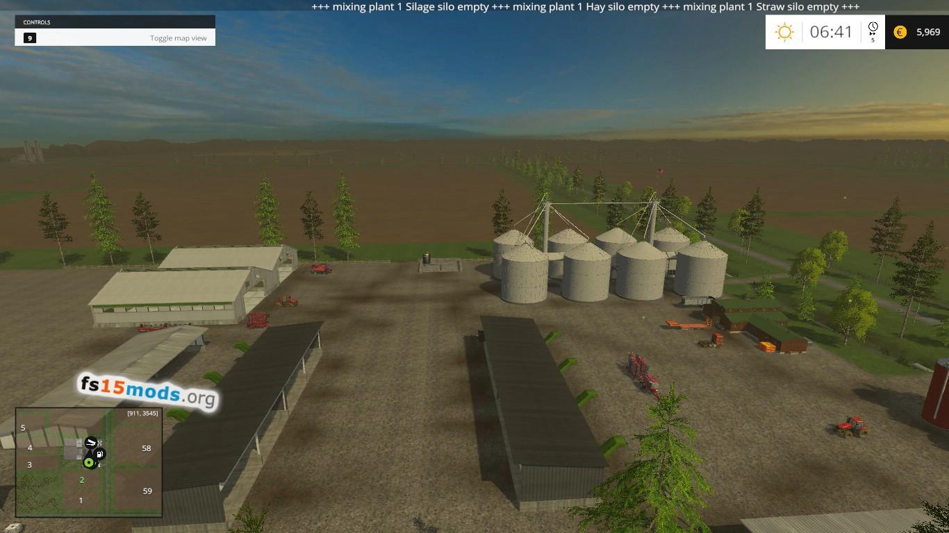 Michigan Cash Crop Acres map FS15 Mods