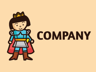 Prince Character Mascot Logo