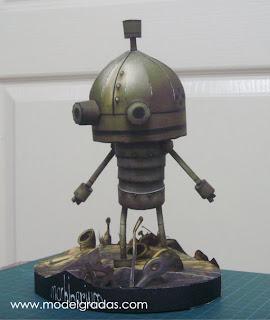 Machinarium Papercraft Model - Josef the Robot