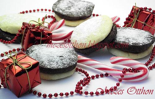 kétszínű keksz karácsonyi aprósütemény fotó