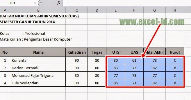 Rumus Excel If Nilai Mahasiswa 300 Rumus Excel Cara Tepat Menyembunyikan Rumus Excel Membuat