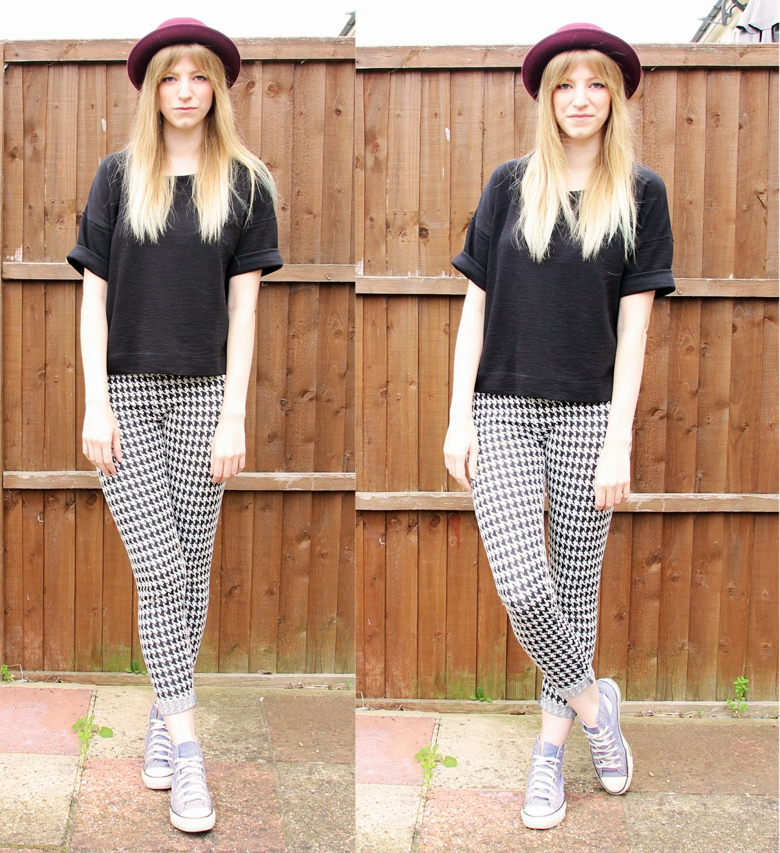 e935ad3595cc I do love some good patterned trousers! These are some cheap (yet  beautiful) dogtooth leggings from Primark. I m treating them as a standby  version of the ...