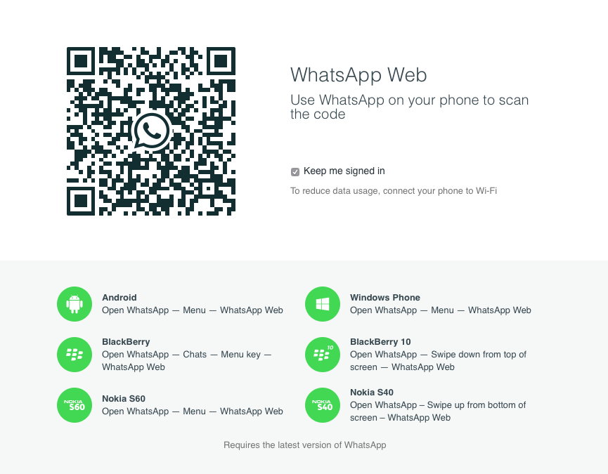Life = Thinking: WhatsApp web client: Steps for activation ...