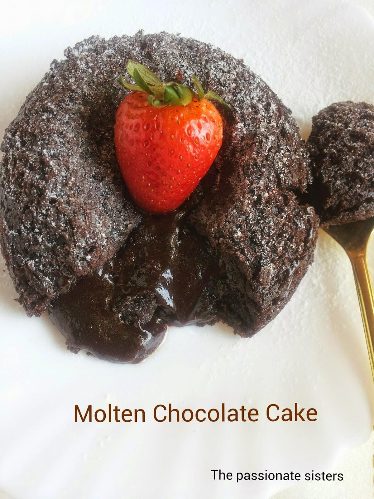 Eggless chocolava cake / molten chocolate cake / chocolate fondant