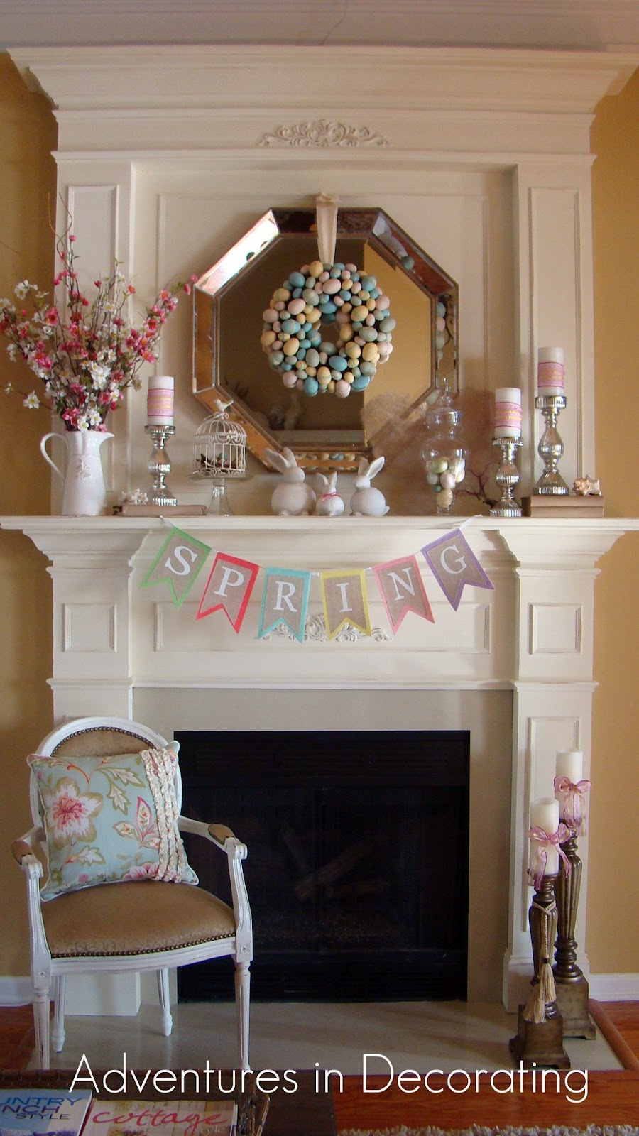 Michelle paige blogs easter mantels for Decorating your mantel