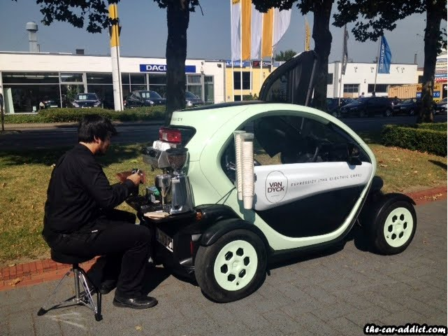Renault Twizy Coffee Shop by Van Dyk Koln Espressizy
