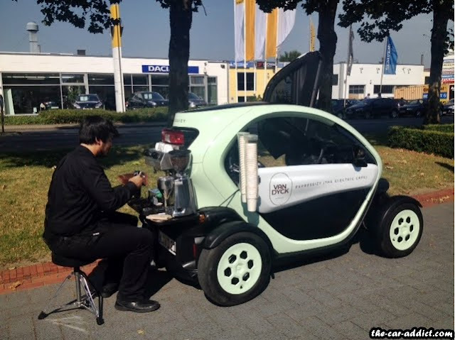 renault twizy mobile coffee shop espressizy. Black Bedroom Furniture Sets. Home Design Ideas