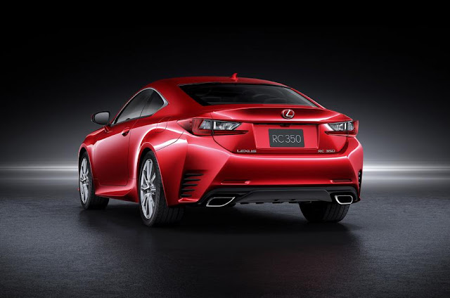 2016 new Lexus RC coupe Edition back view