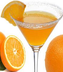 orange juice with mint leaves