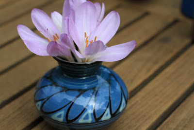 Kähler Vase and Colchicum (Autumn Crocus)