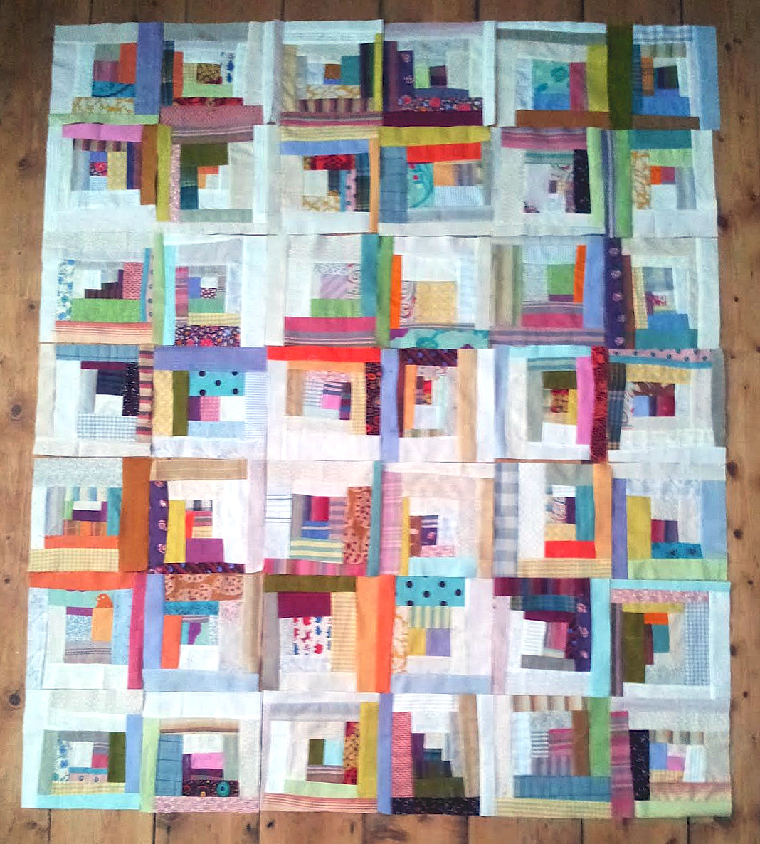 Charlie Makes Design Choices Log Cabin Quilt Layout