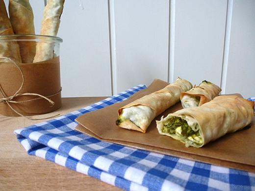 Rezept, Sigara Böregi, Türkisch kochen, vegetarisch, Filoteig, Yufka, Feta, Spinat, Blog