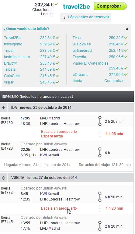 Kuwait low cost con Iberia