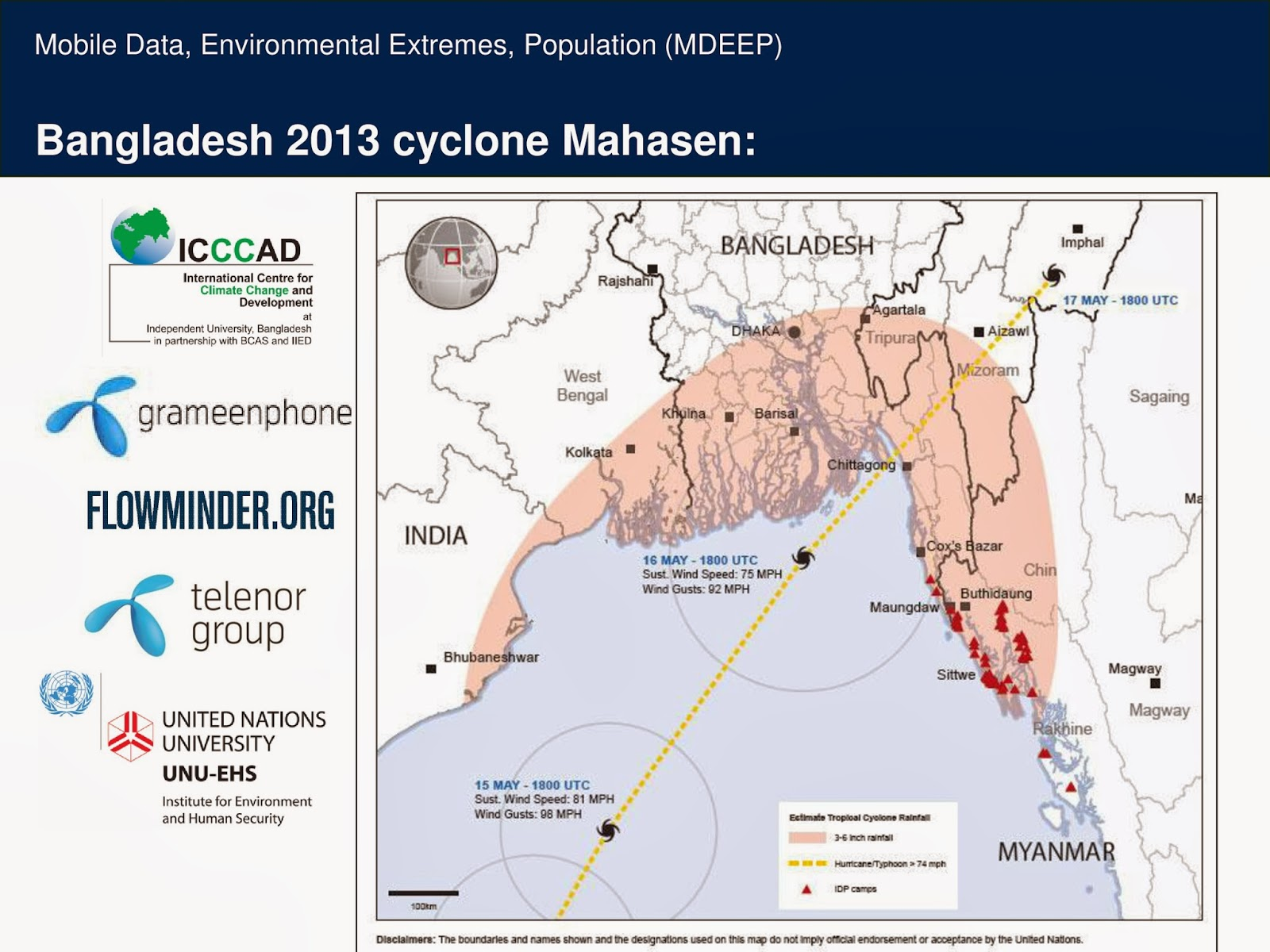mobile data environmental extremes and population mdeep